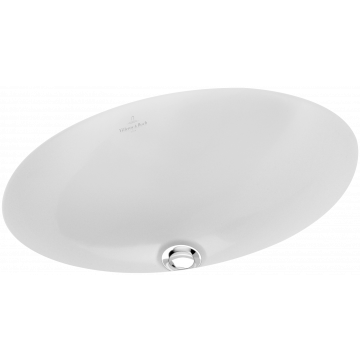 Villeroy & Boch Loop & Friends onderbouwwastafel ovaal 42x28,5 cm met overloop CeramicPlus, wit
