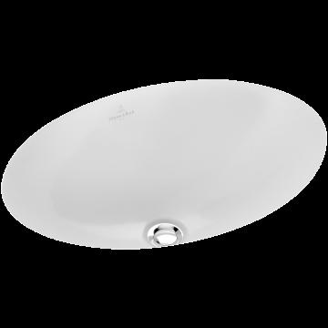 Villeroy & Boch Loop & Friends onderbouwwastafel ovaal 42x28,5 cm zonder overloop CeramicPlus, wit alpin