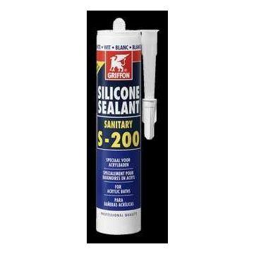 Griffon Sealant S-200 siliconenkit 300 ml, grijs