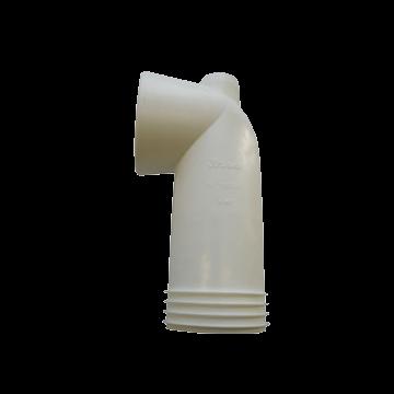 Wisa 301K closetafvoermanchet bocht 180mm, wit