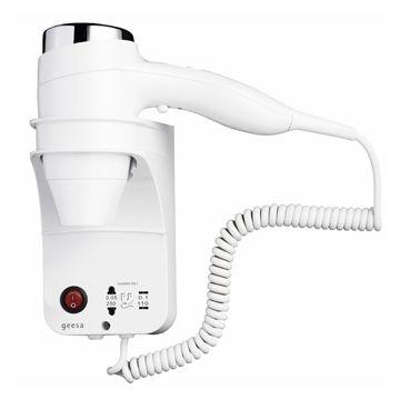 Geesa Hair Dryer haardroger 1400w 3 snelheden met scheerstopcontact, wit