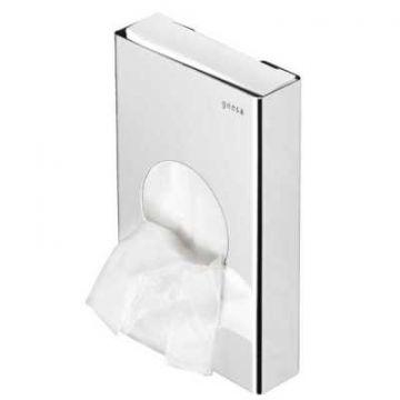 Geesa Hotel hygiene zakjeshouder wandmodel, RVS gepolijst