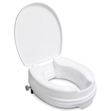 Linido toiletverhoger met deksel verhoging 10cm, wit
