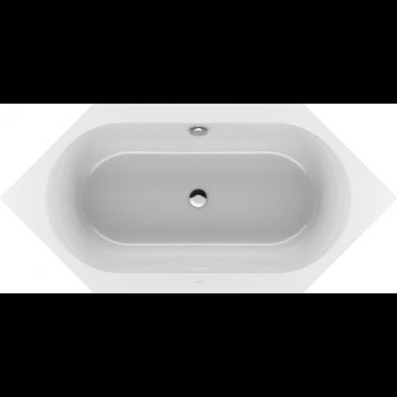 Villeroy & Boch Loop & Friends 6-hoek bad 190x90 cm, met ovale binnenvorm, wit