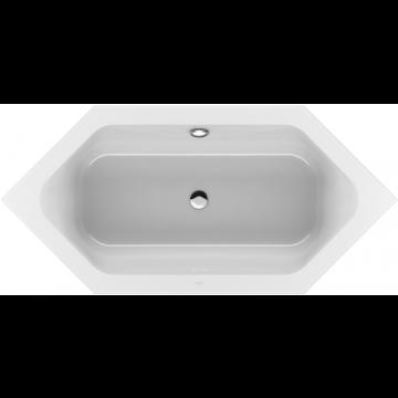 Villeroy & Boch Loop & Friends 6-hoek bad 190x90 cm, met hoekige binnenvorm, wit