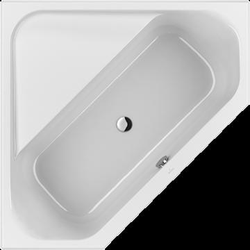 Villeroy & Boch Loop & Friends hoekbad 140x140 cm, hoekige binnenvorm, wit