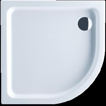 Villeroy & Boch O.novo kwartronde douchebak zonder paneel 6 x 90 x 90 cm, wit alpin