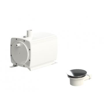 SANIBROYEUR SANIFLOOR® vuilwaterpomp met sifon voor extra vlakke douchebakken, wit