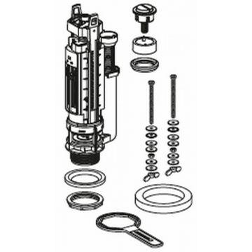 Geberit spoelventiel type 290, 2-toets spoeling