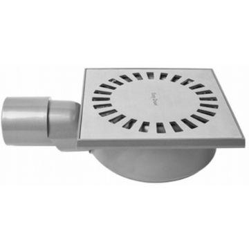 Easy Drain Aqua Compact vloerput abs 15 x 15 cm. waterslot 50 mm., rvs