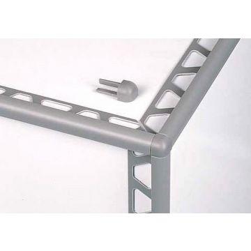 Schlüter Rondec buitenhoek 12.5 mm, glans, aluminium