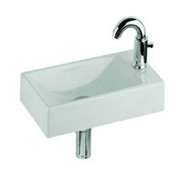 Geberit Diedro fontein met 1 kraangat rechts zonder overloop 40 cm, wit