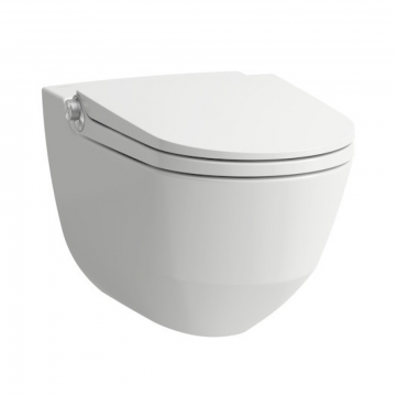 Laufen Riva Cleanet douche wc softclose, wit
