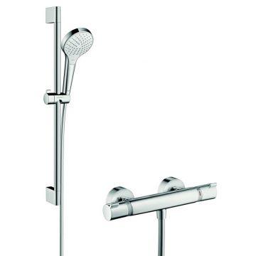 Hansgrohe Croma Select S vario / Ecostat Comfort douchecombinatie 65cm, wit-chroom