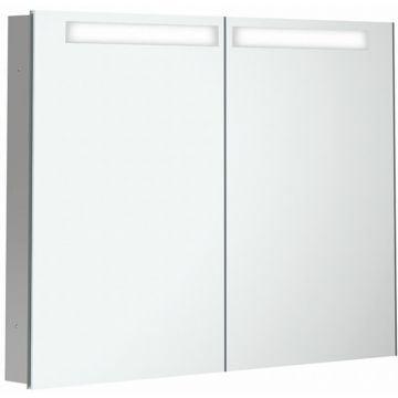 Villeroy & Boch My View In inbouwspiegelkast met LED-verlichting en 2 deuren 100x74,7 cm