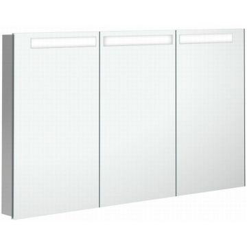 Villeroy & Boch My View In inbouwspiegelkast met LED-verlichting en 3 deuren 130x74,7 cm