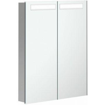 Villeroy & Boch My View In inbouwspiegelkast met LED-verlichting en 2 deuren 80x74,7 cm