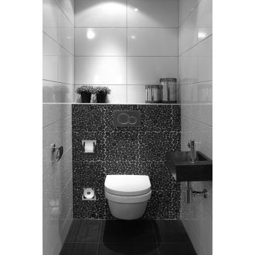 LoooX Closed inbouw wc- en reserverolhouder 5 rollen 15,8x74x13,8cm, rvs geborsteld