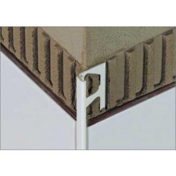Schlüter Jolly-AC tegelprofiel 12,5 mm, 250 cm, aluminium, wit