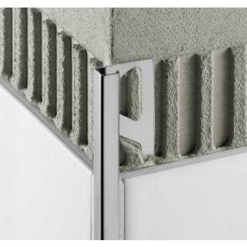 Schlüter Quadec-ae buitenhoek 10 mm. aluminium, mat aluminium