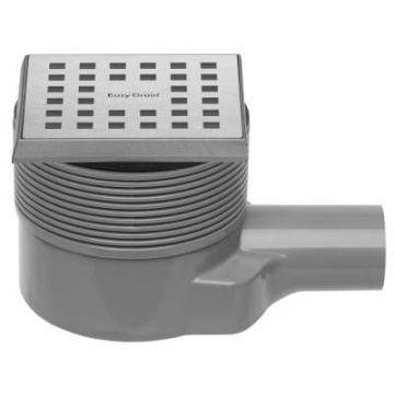 Easy Drain Aqua Quattro vloerput abs 10x10 cm, horizontaal