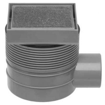 Easy Drain Aqua Quattro tegel vloerput abs 15x15 cm, horizontaal, tegel / rvs