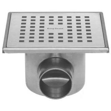 Easy Drain Aqua Plus Quattro Fixt-30 vloerput 15x15cm  zijuitlaat, rvs