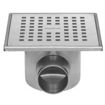 Easy Drain Aqua Plus Quattro vloerput rvs 15x15 cm, horizontaal, rvs