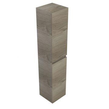 Sub 120 kast hoog 35x35x170 cm met 2 deuren links of rechts, zilver eiken