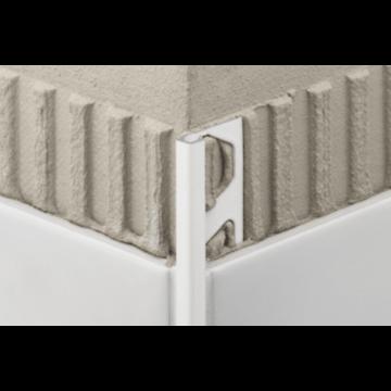 Schlüter Quadec-AC tegelprofiel 10 mm, 300 cm,met kleurcoating, wit