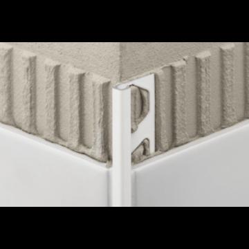 Schlüter Quadec-AC tegelprofiel 12.5 mm, 300 cm,met kleurcoating, wit
