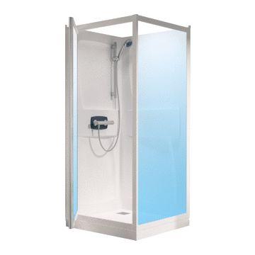 Kinedo Kineprime cabine 70x208 draaideur+thermostaat douchebak 9cm., wit-helder