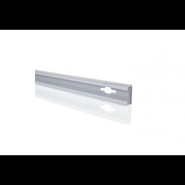 Hüppe Design pure verbredingsprofiel 1,5 x 200 cm, zilver mat