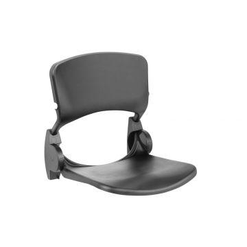 Linido ergonomische opklapbare douchezitting met rugleuning, antraciet