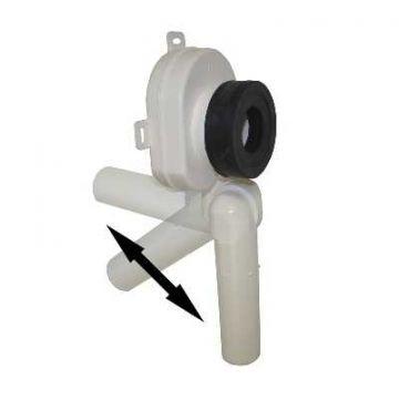 De Beer universele urinoirsifon  horizontaal/verticaal  afvoer=40mm, wit
