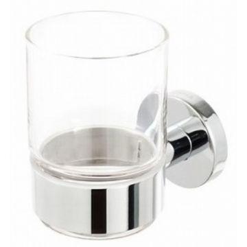 Geesa Nemox glashouder, met glas, chroom