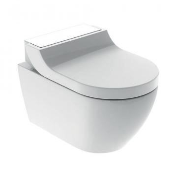 Geberit AquaClean Tuma Comfort douche wc met witglas-decorplaat, wit