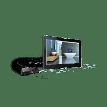 """AquaSound Exclusive opbouw led tv 27"""" dvb-c / dvb t/ dvb-t2,hdmi-cec"""