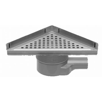 Easy Drain Aqua Plus Delta vloerput 24 x 33 cm. met rooster msi-6, rvs geborsteld