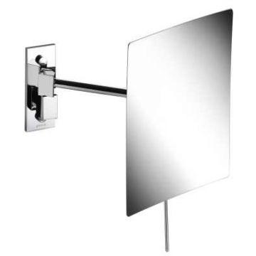 Geesa Mirror make-up spiegel met LED-verlichting en 1 arm en 3x vergrotend 15x22,5 cm, chroom