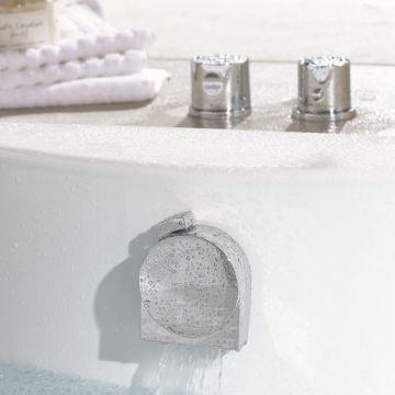 Hansgrohe Exafill S afbouwdeel voor bad vul-/overloopcombinatie, chroom
