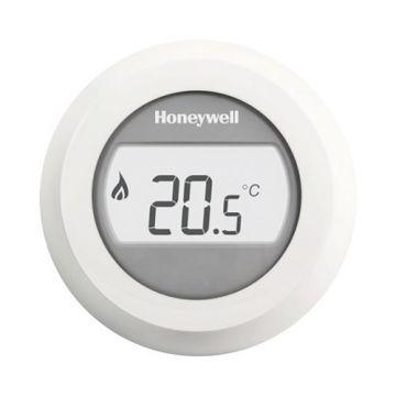 Honeywell Round Modulation kamerthermostaat Opentherm met draaiknop en verlicht display, wit