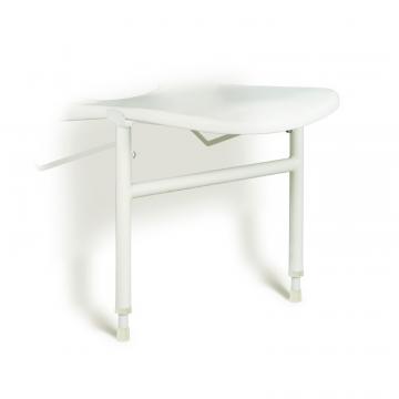 Linido hulppootset voor ergonomische douchezitting met zithoogte 42-57cm, rvs gecoat wit