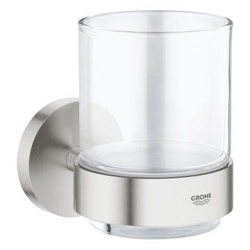 GROHE Essentials houder, met glas, supersteel