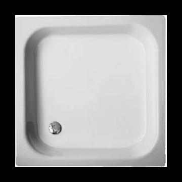 Bette plaatstalen douchebak vlak 120x80 cm, wit