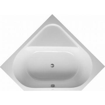 Duravit D-code hoekbad 140x140 cm, zonder poten, wit