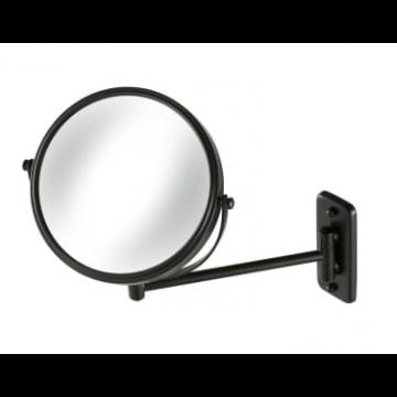 Geesa Mirror spiegel 1-armig rond 20cm, matzwart