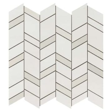 Atlas concorde Mek tegelmat mosaico chevron wall 30,5x30,5 cm, light mosaico