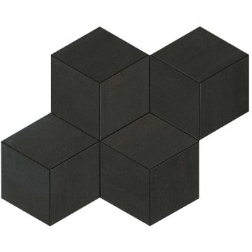 Atlas concorde Mek tegelmat mosaico esagono 30x35 cm, dark mosaico esagono