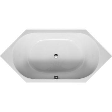 Duravit D-code 6-hoek bad 190x90 cm, zonder poten, wit
